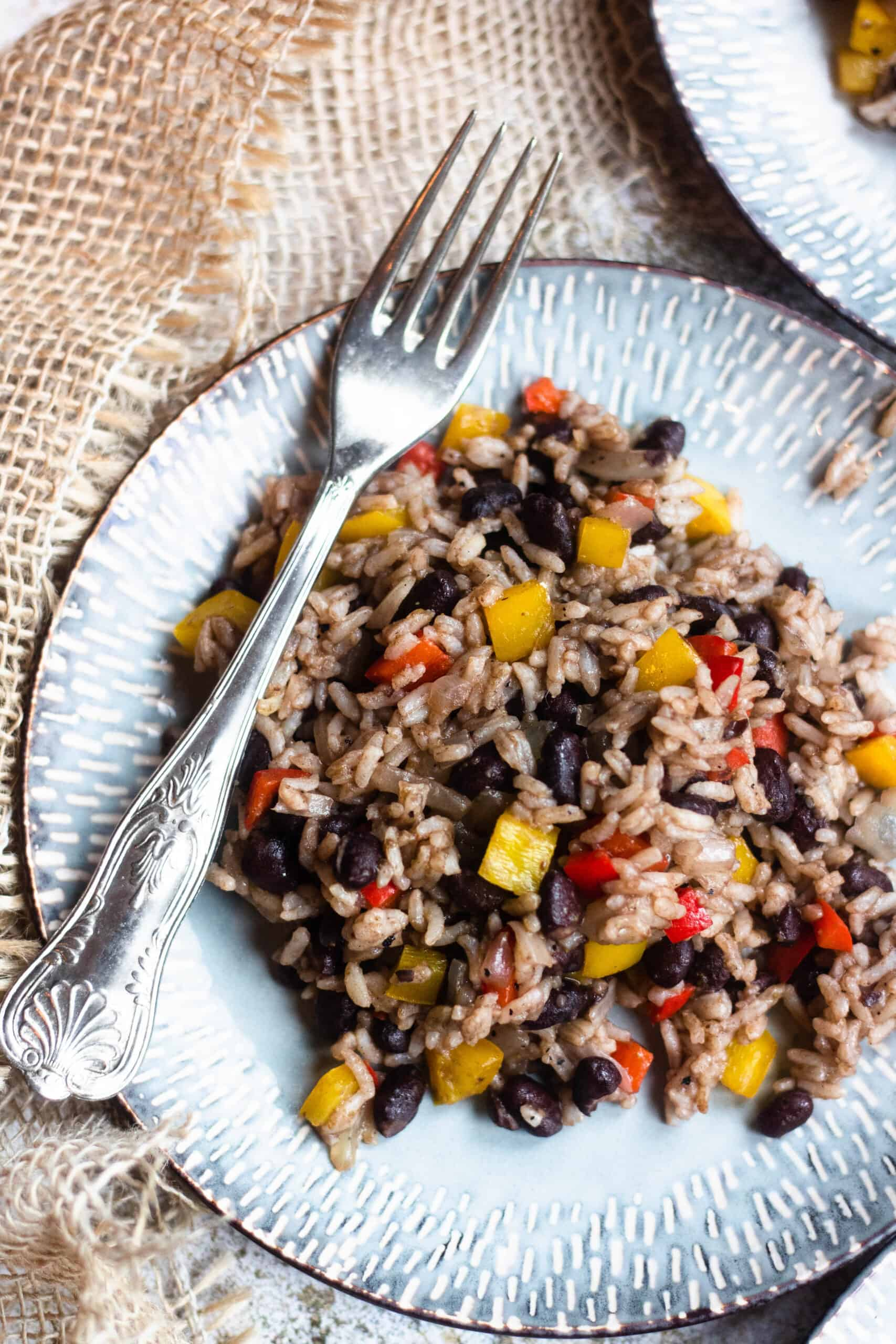 Gallo Pinto on a plate