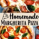 New Margherita Pizza Pinterest Image middle design banner