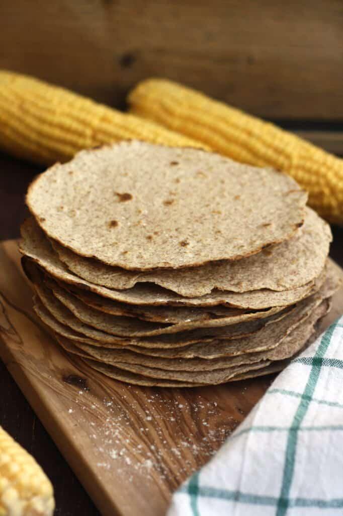cinco de mayo food: homemade corn tortillas