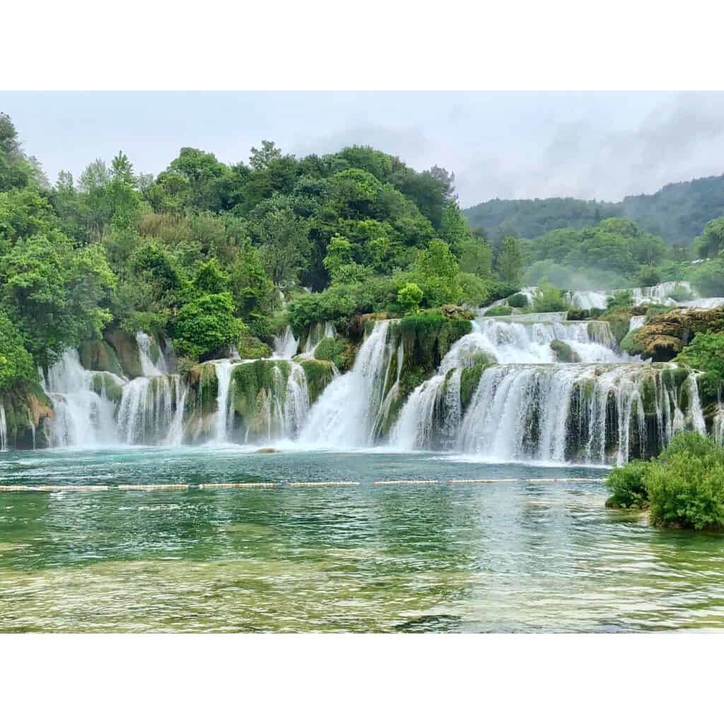 The beautiful Krka waterfalls