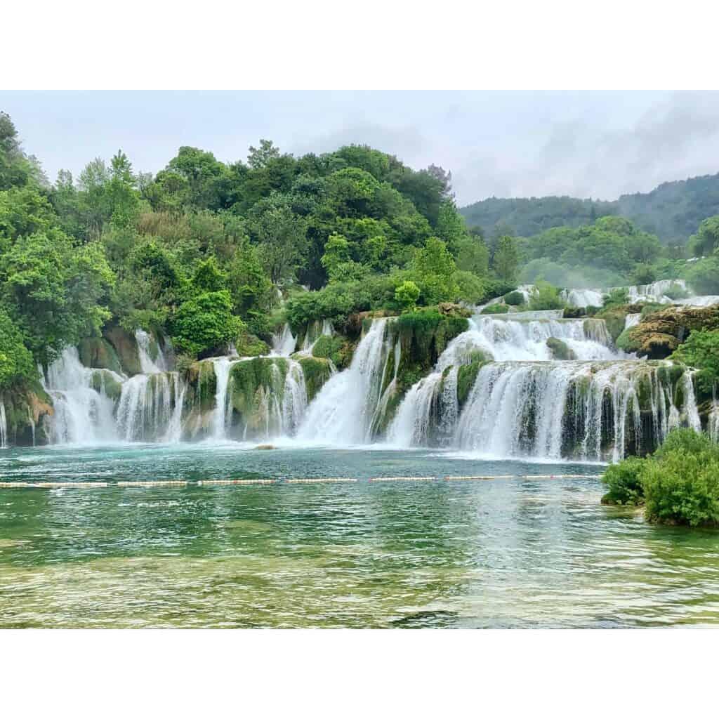 The beautiful Krka waterfalls