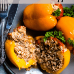Croation Stuffed Peppers In The Instant Pot Pinterest Image Top Clear Banner