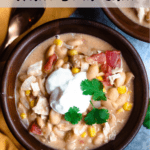 White Bean Chili In The Instant Pot Pinterest Image Top Clear Banner