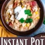 Instant Pot White Bean Chili Pinterest Image bottom design banner