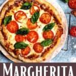 New Margherita Pizza Pinterest Image bottom design banner