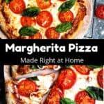How to make Margherita Pizza Pinterest Image middle black banner