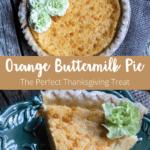 Orange Buttermilk Pie Pinterest Image Middle Banner