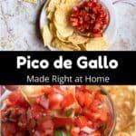 Homemade Pico de Gallo Pinterest Image middle black banner