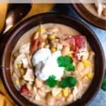 Instant Pot White Bean Chili Pinterest Image top black banner