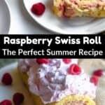 Raspberry Cream Swiss Roll Pinterest Image middle black banner