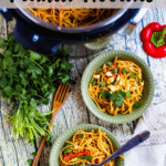 Thai Inspired Peanut Noodles In The Instant Pot Top Clear Banner