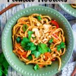 Thai-Inspired Peanut Noodles Pinterest Image Top banner