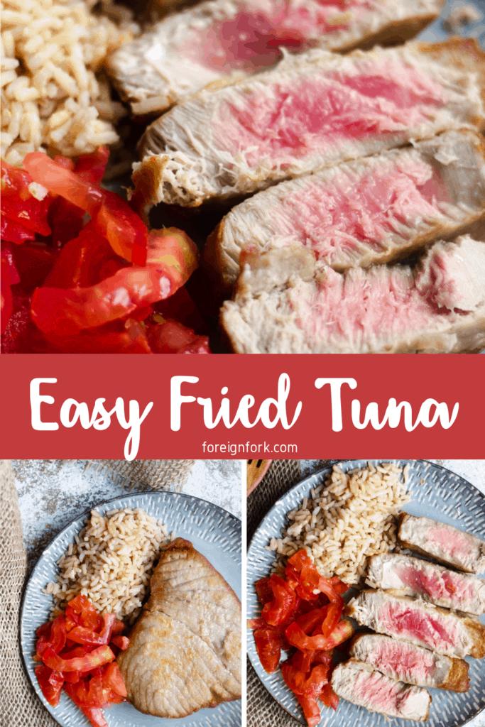 Fried Tuna Pinterest Image