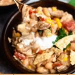 White Bean Chili In The Instant Pot Pinterest Image Bottom Banner