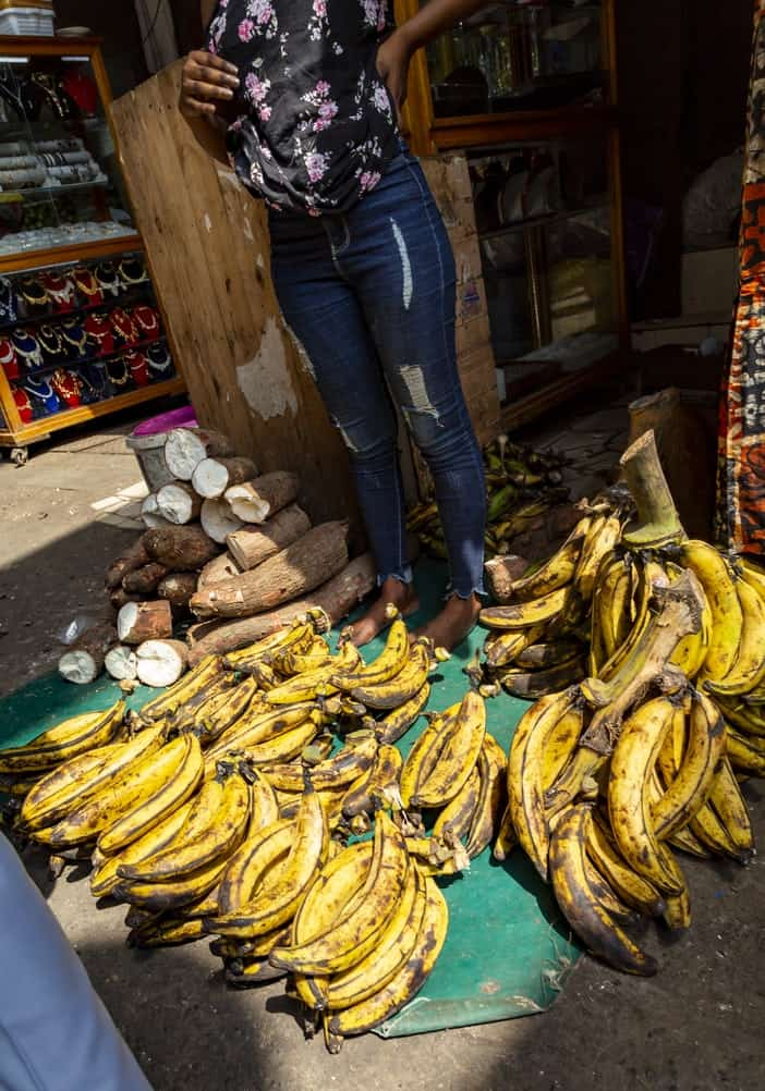 Bananas at market in ivory coast