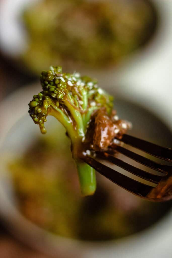forkful of beef and broccoli