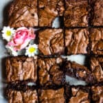 plate of fudgey brownie recipe