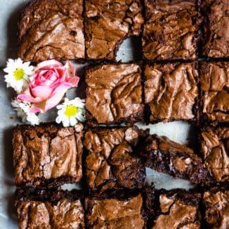 plate of fudgey brownie recipe