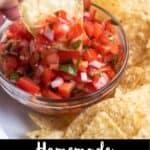 Homemade Pico de Gallo Pinterest Image bottom black banner