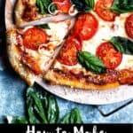 How to make Margherita Pizza Pinterest Image bottom black banner