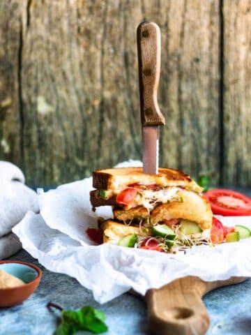Stacked Panzanella Sandwich
