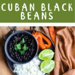 Back to School Cuban Black Beans Top banner