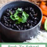 Back to School Cuban Black Beans Bottom Banner