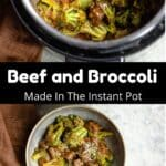 Instant Pot Beef and Broccoli Pinterest Image middle black banner