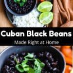 Instant Pot Cuban Black Beans Pinterest Image middle black banner