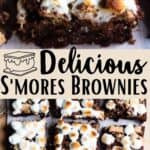 Delicious S'mores Brownies Pinterest Image middle design banner