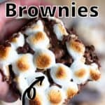 S'mores Brownies Pinterest Image top outlined title