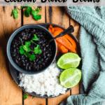 Cuban Black Beans in the Instant Pot Pinterest Image