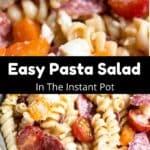 Instant Pot Easy Pasta Salad Pinterest Image middle black banner