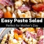 Mother's Day Easy Pasta Salad Pinterest Image middle black banner