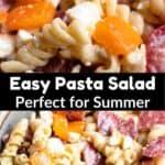 Summer Time Easy Pasta Salad Pinterest Image middle black banner