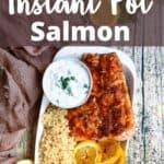 Easy Instant Pot Salmon Recipe Pinterest Image top design banner