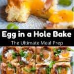 Egg in a Hole Bake Pinterest Image middle black banner