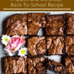 Back To School Fudgy Brownies Top Dark Brown Banner
