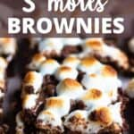 Delicious S'mores Brownies Pinterest Image top design banner