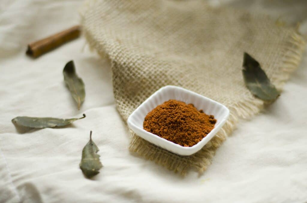 Garam Masala Spice sitting in a pinch cup