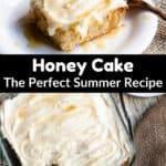 Honey Cake Pinterest Image middle black banner