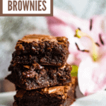 Fudgy Brownie Recipe Pinterest Image
