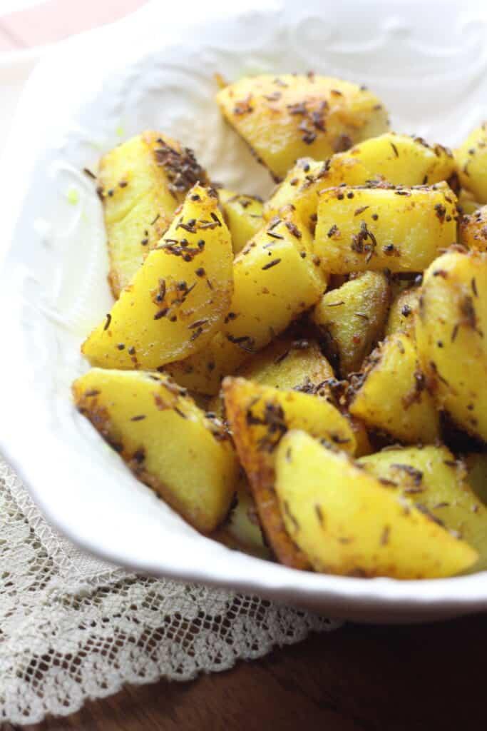 Cumin roasted potatoes from Bangladesh