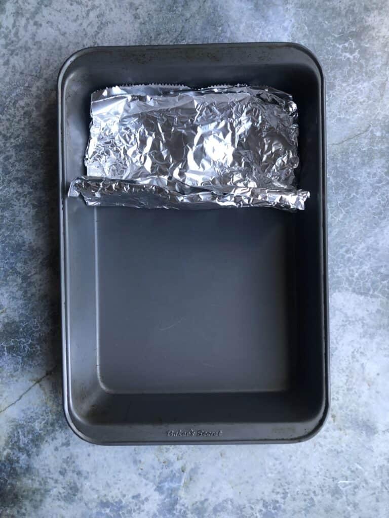 Top view of Aluminum foil wall