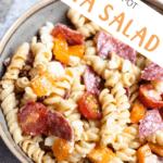 Instant Pot Pasta Salad Pinterest Image