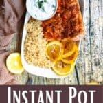 Easy Instant Pot Salmon Recipe Pinterest Image bottom design banner