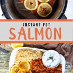 Instant Pot Salmon Pinterest Image