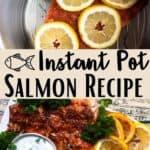 Easy Instant Pot Salmon Recipe Pinterest Image middle design banner