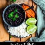 Instant Pot Cuban Black Beans Pinterest Image bottom black banner