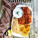 Summertime Instant Pot Salmon top outlined title